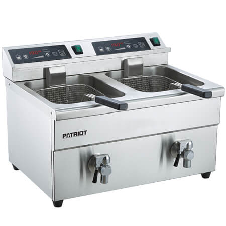"Patriot 30 lb. Induction 208V Electric Countertop Fryer 22-3/4""W"