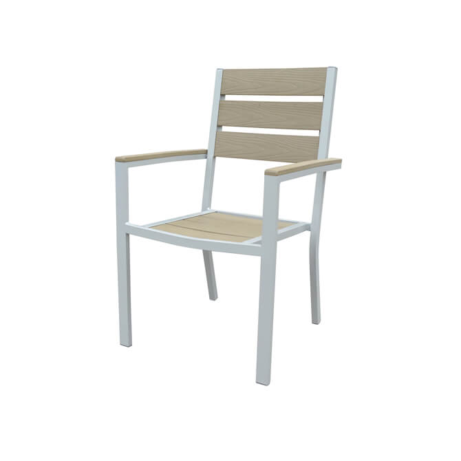 Modesto Faux Wood And Aluminum Patio Chair Zoom Manufacturer Specs