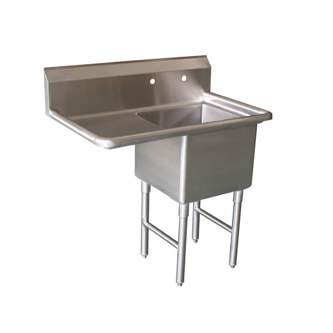 Sauber Select 1 Compartment Stainless Steel Sink With 18 Drain