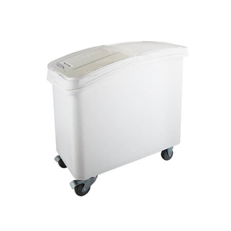 ProStore 21-Gallon Heavy Duty Mobile Ingredient Bin with Clear Sliding Lid
