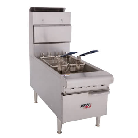"APW Wyott 15 lb. Gas Countertop Fryer 12""W"