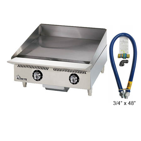 Star Ultra-Max Thermostat Control Heavy Duty Gas Griddle with $29 Dormont Quick Disconnect Hose Kit, a $155 value