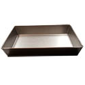 Detroit Style 10\x22 x 14\x22 Rectangular Steel Pizza Pan