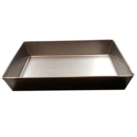 "Detroit Style 8"" x 10"" Rectangular Steel Pizza Pan"