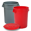 Round Trash Containers
