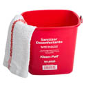 San Jamar 3-Quart Red Kleen Pail for Sanitizer