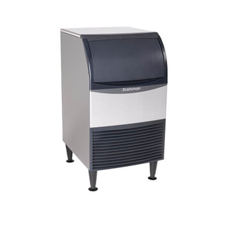 "Scotsman 100 lb. Undercounter Medium Cube Essential Air Cooled Ice Machine with 57 lb. Bin 20""W"