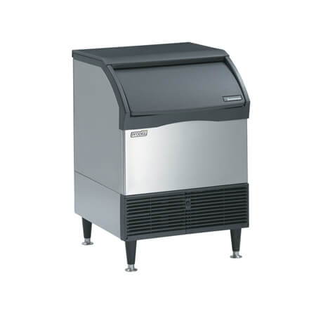 "Scotsman 150 lb. Undercounter Medium Cube Prodigy Plus Air Cooled Ice Machine with 80 lb. Bin 26""W"