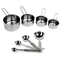 Stainless Steel Measuring Cups & Spoons