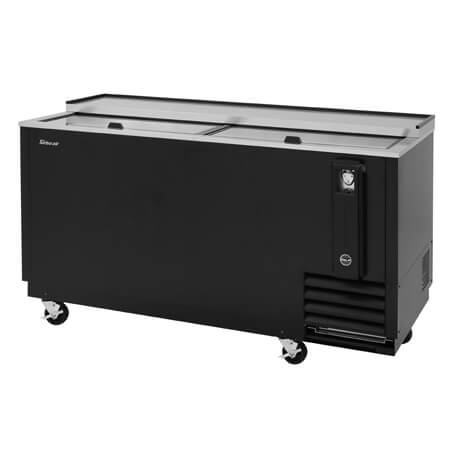 "Turbo-Air 22 Case Black Bottle Cooler 64-3/8""W"