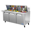 Turbo-Air 30 Pan 3-Door Mega-Top Sandwich Prep Table