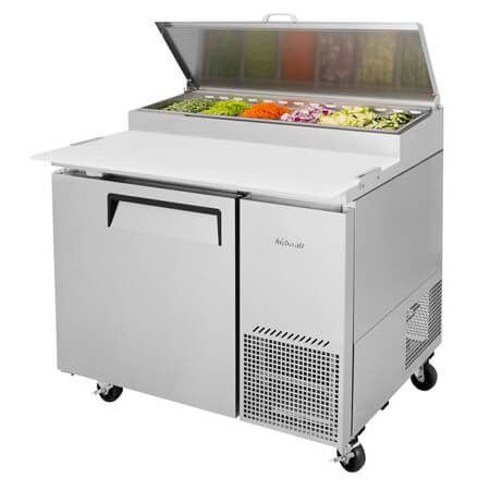 "Turbo-Air 14 cu. ft. 1-Door Pizza Prep Table 44""W"