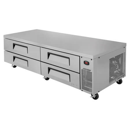 "Turbo-Air 4-Drawer Refrigerated Equipment Stand 83-5/8""W"