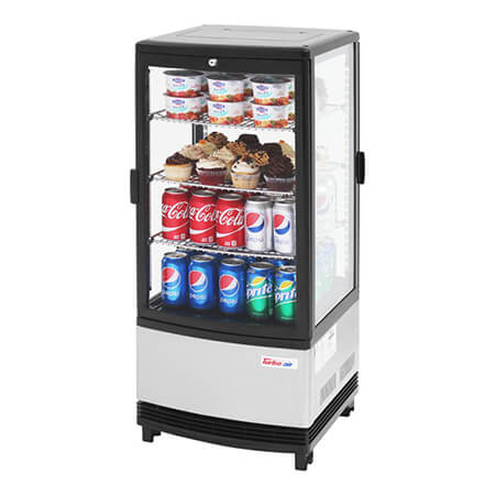 "Turbo-Air 3.0 cu. ft. Countertop Pass-Through Refrigerator Merchandiser 16-3/4""W"