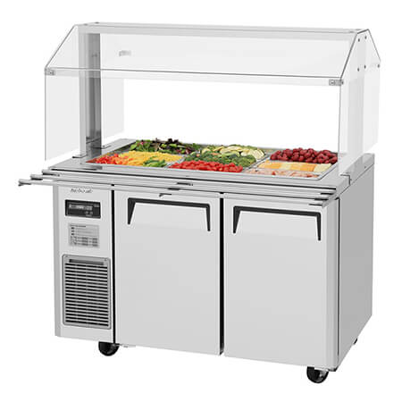 "Turbo-Air 11 cu. ft. Refrigerated Buffet Table 48""W"