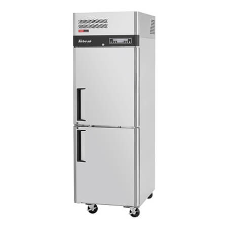"Turbo-Air 17 cu. ft. 2-Door Dual-Temp Reach-In Refrigerator/Freezer 25-1/8""W"
