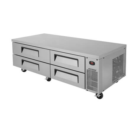 "Turbo-Air 9.22 cu. ft. 4-Drawer Refrigerated Equipment Stand 72""W"