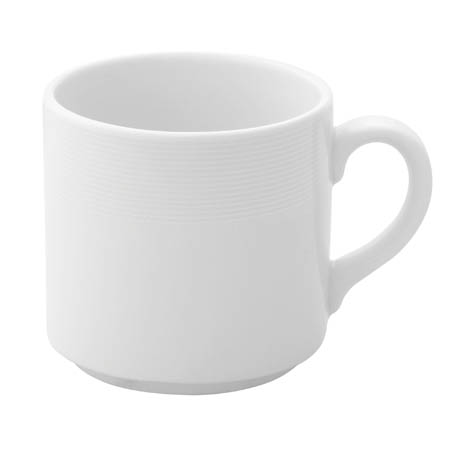Villeroy & Boch Ariane Orba Ivory 6.25 oz. Stackable Coffee Cup