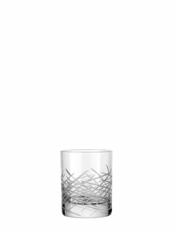 Libbey Master's Reserve Modernist Renewal 9 oz Crosshatch Rocks Glass