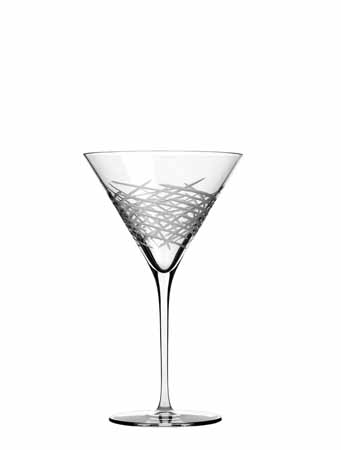Libbey Master's Reserve Renaissance Renewal 10 oz Crosshatch Martini Glass