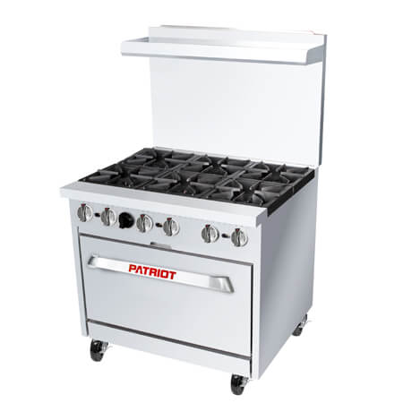 "Patriot 6-Burner Natural Gas Range 36""W"